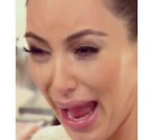 Kim Kardashian cry face by supornah