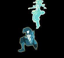 Korra & Wan's Avatar Spirit With Raava by AvatarSkyBison
