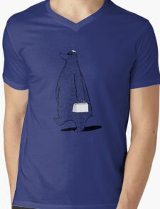 Mr. Bear Goes to Work Mens V-Neck T-Shirt