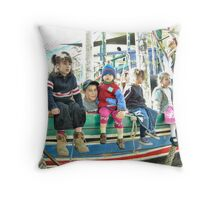 Ready for a playground Voyage Throw Pillow