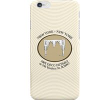 NYC building details 3 - SOHO Art Deco iPhone Case/Skin