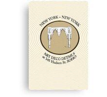 NYC building details 3 - SOHO Art Deco Canvas Print