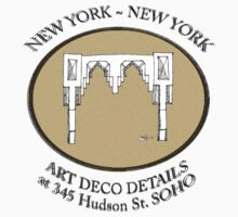 NYC building details 3 - SOHO Art Deco T-Shirt