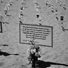Santa monica beach memorial by Gowri Gilbertson