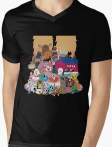 The amazing world of Gumball Mens V-Neck T-Shirt