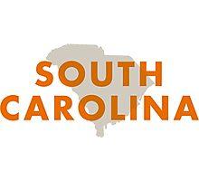 South Carolina - Red Photographic Print