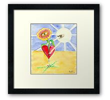 Opening my Heart Framed Print