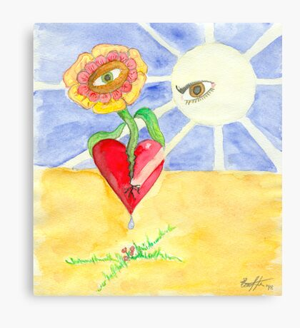 Opening my Heart Canvas Print