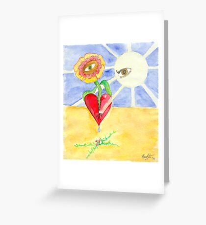 Opening my Heart Greeting Card