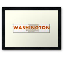 Washington - Red Framed Print