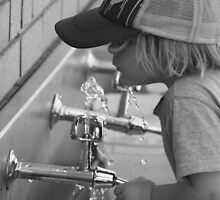 Drinking from School Water Fountain by Pip Gerard
