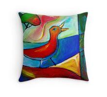 TRUE SONG OF THE LOVEBIRD. Throw Pillow