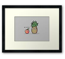 It's not a phase! Framed Print