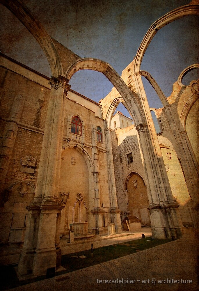 CONVENTO DO CARMO . Carmo light by terezadelpilar~ art & architecture
