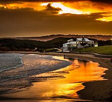 Torquay Sunset by Russell Charters