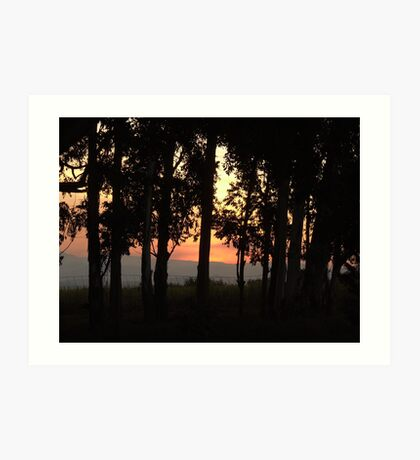 Sunset over the Blinkwater Mountains Art Print