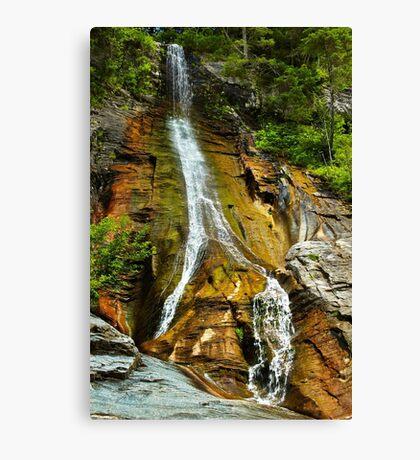The Apa Spanzurata waterfall in the Latoritei gorge Canvas Print