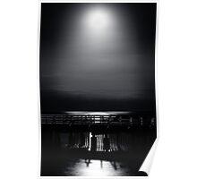 Full Moon Over Bramble Bay Poster