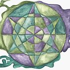 Earth Healing Mandala by HeidiArts