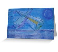 triangles in the sky Greeting Card