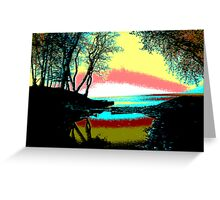 explosion over lake ontario Greeting Card