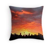 Sydney City sunrise Throw Pillow