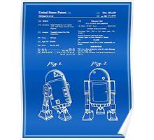 R2D2 Patent - Blueprint Poster