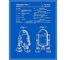 R2D2 Patent - Blueprint Photographic Print