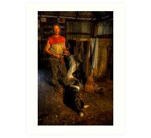 The Shearer. Art Print