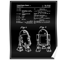 Star Wars R2D2 Patent - Black Poster