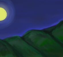 Moonlit serenity in the mountains by Lisa