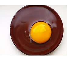 fried chocolate egg:) Photographic Print
