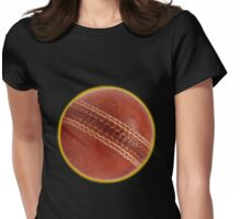 cricket ball Womens Fitted T-Shirt