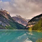 Lake Louise at Dawn by LarryGambon