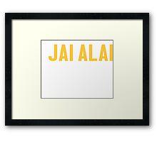 Burn Off The Crazy Jai Alai T-shirt Framed Print