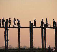 U Bein bridge, Mandalay, Myanmar by Denzil
