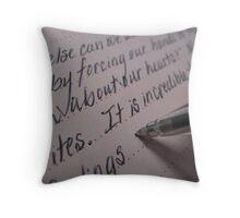 Journaling... Throw Pillow