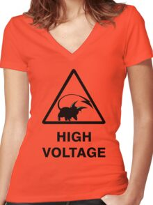 NEW Raichu high voltage pokemon 2 Women's Fitted V-Neck T-Shirt