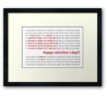 Happy valentine´s day Framed Print