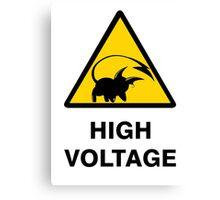 Raichu high voltage pokemon 3 Canvas Print