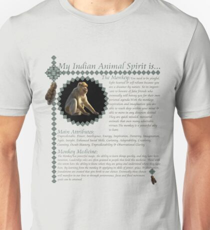 My Animal Spirit is...Monkey Unisex T-Shirt