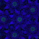 Blue Pinwheel Abstract by Marie Sharp