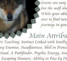 My Animal Spirit is...Wolf Sticker