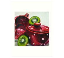 Kiwi and Kitchenware Art Print