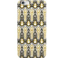 20's Glitter Glam, Gold and Black Deco Pattern iPhone Case/Skin