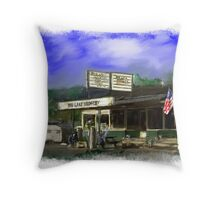 Big Lake Grocery Throw Pillow