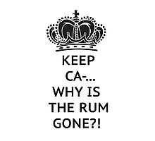 The rum is gone, WHY?! Photographic Print