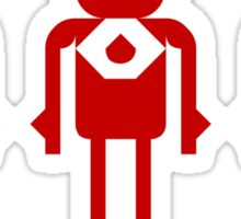 tHREE rED rOBOTS Sticker