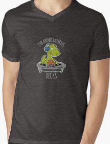 Tyrannosaurus Decks Mens V-Neck T-Shirt