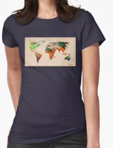 map Womens Fitted T-Shirt